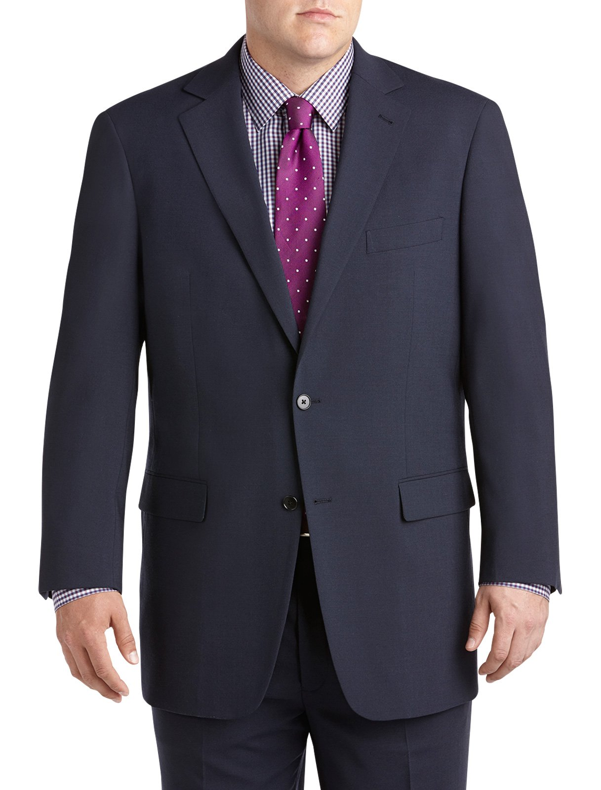 Gold Series DXL Big and Tall Continuous Comfort Suit Coat, Navy 50 Long