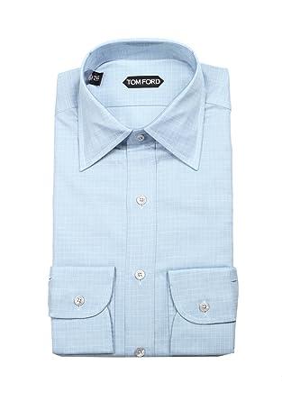 e68b6ae3158 Tom Ford CL Checked White Blue Dress Shirt Size 40 15