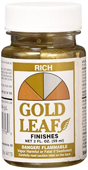 Amazon.com : Sheffield Bronze 1716 2-oz. Rich Gold Leaf Finish : Home Improvement