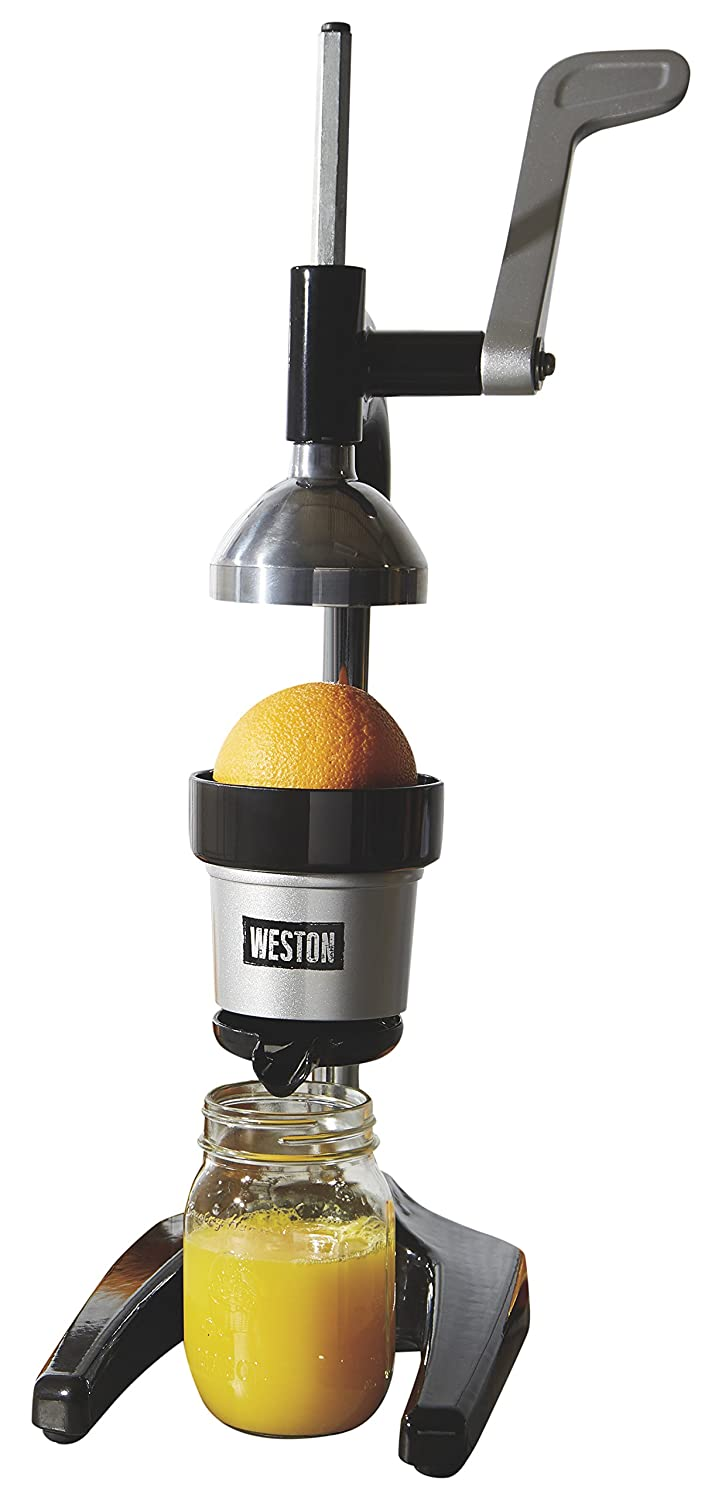 Weston 66431 Pro Series Citrus Juicer, One, Silver