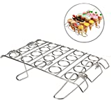 Cupcake Cone Baking Rack, Ice Cream Cone Stand Holder, Stainless Steel ,20 Capacity Foldable