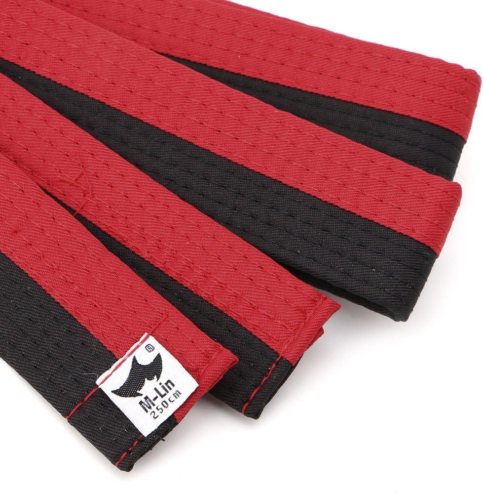 JERKKY Nuevo Cintur/ón de Taekwondo Cintur/ón Profesional de Taekwondo Karate Judo Doble Envoltura Artes Marciales Raya Deportes Amarillo