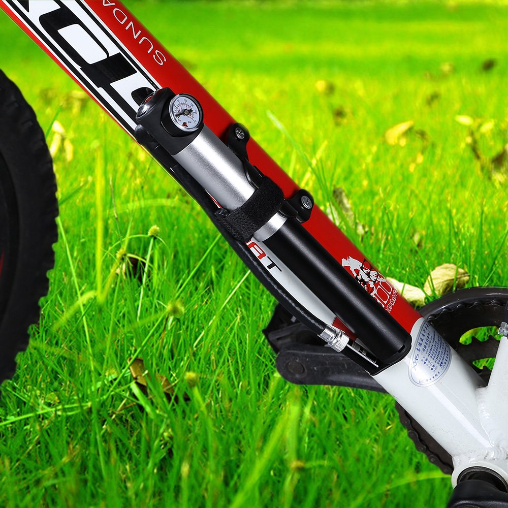 Amazon.com : WOLFWILL Mini Bike Pump Fits Presta & Schrader 210 PSI ...