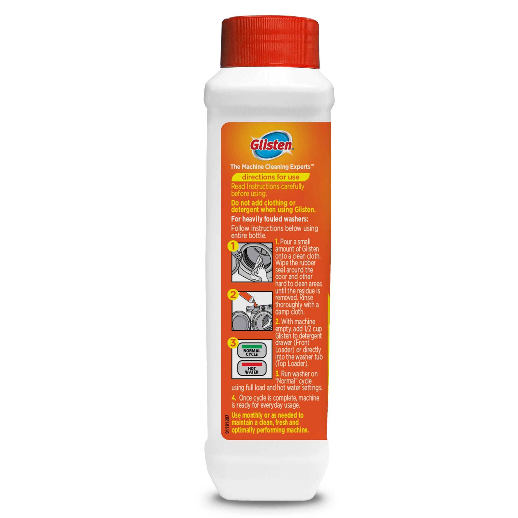 Glisten Washer Magic Washing Machine Cleaner & Deodorizer, 12 Fl. Oz. Bottle, 12 Pack by Glisten (Image #2)