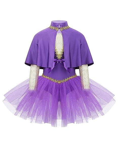 MSemis Vestido Bailarina para Niñas Maillot Danza Ballet ...