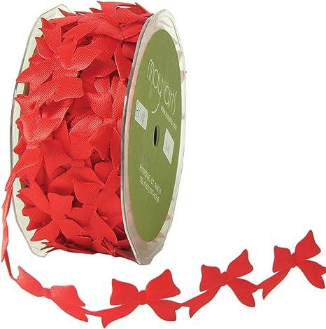 "5 Yards Valentine Mini White Hearts Red Grosgrain Wired Ribbon 1 1//2/""W"