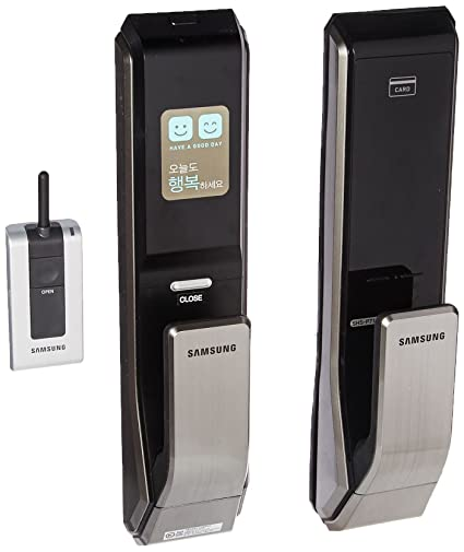 Push Pull Innovation SAMSUNG SHS-P710 digital door lock keyless touchpad security EZON + Remote  sc 1 st  Amazon.com & Amazon.com : Push Pull Innovation SAMSUNG SHS-P710 digital door lock ...