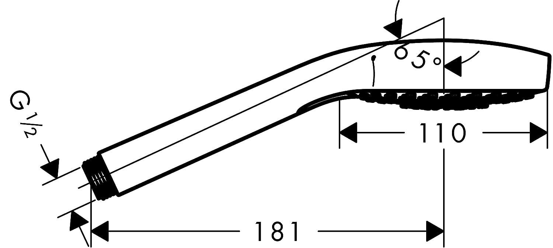 3 Strahlarten wei/ß//chrom hansgrohe Croma Select S Handbrause