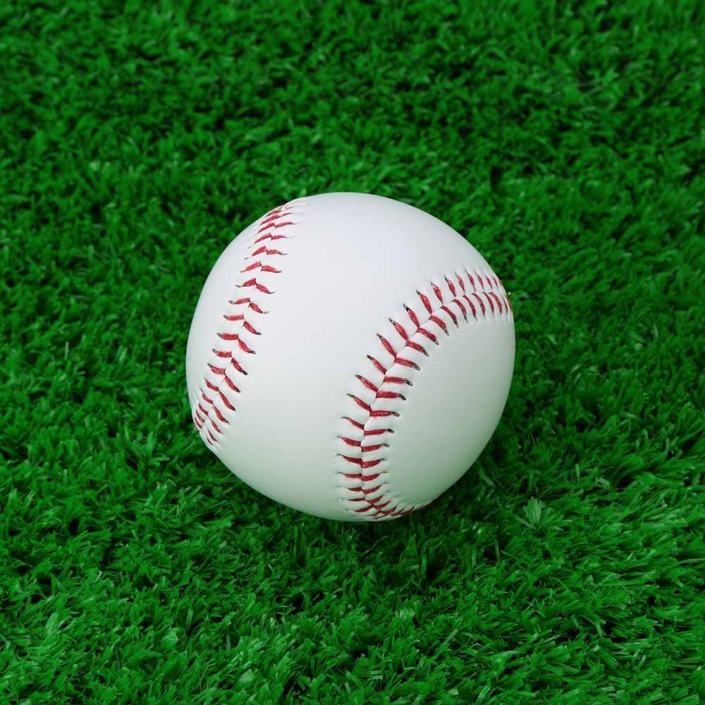 "SODIAL(R) Baseball Balls 9"" Handmade PVC Outer Rubber Inside Soft for Exercise, 1 pieces White"