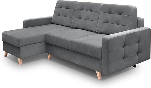 Amazon.com: Vegas Futon Sectional Sofa Bed, Queen Sleeper ...