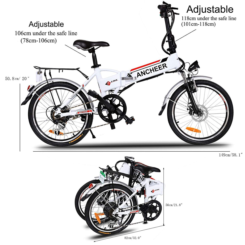 Amazon.com: Korie bicicleta eléctrica plegable de 20 ...