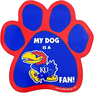 product image for NCAA Kansas Jayhawks Paw Print Car Magnet