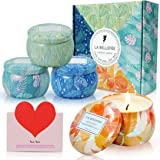 LA BELLEFÉE Aromatheraphy Candle Gift Set Roof Garden, Pumpkin Carriage, White Tea, Winter Cedarwood