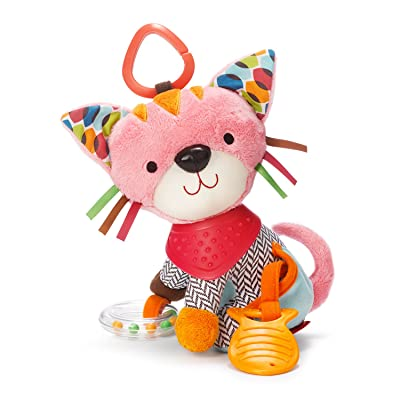 Skip Hop Bandana Buddies Baby Activity and Teething Toy with Multi-Sensory Rattle and Textures, Kitty : Baby