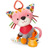 Skip Hop Bandana Buddies Baby Activity and Teething Toy with Multi-Sensory Rattle and Textures, Kitty