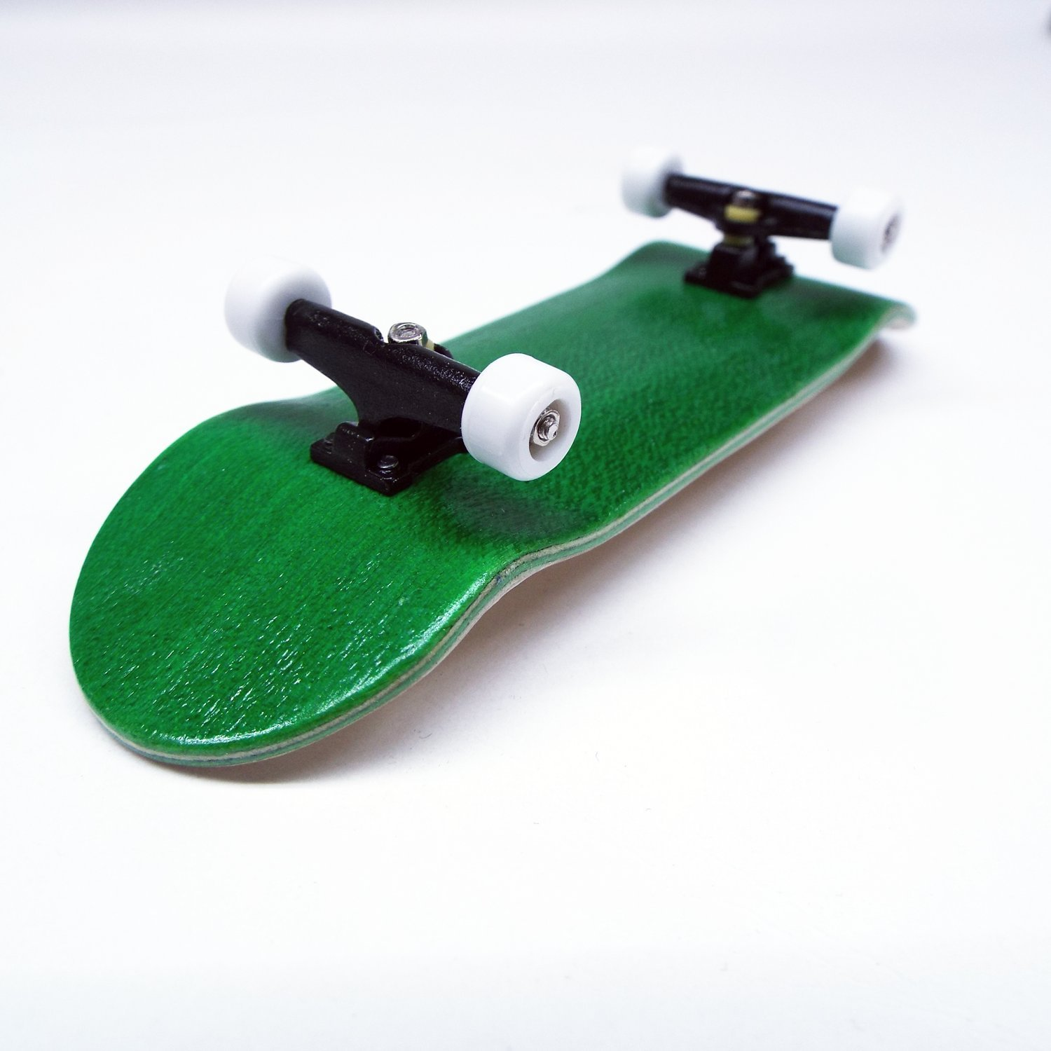Peoples Republic Green Complete Wooden Fingerboard with Basic Bearing Wheels - Starter Edition by Peoples Republic (Image #3)