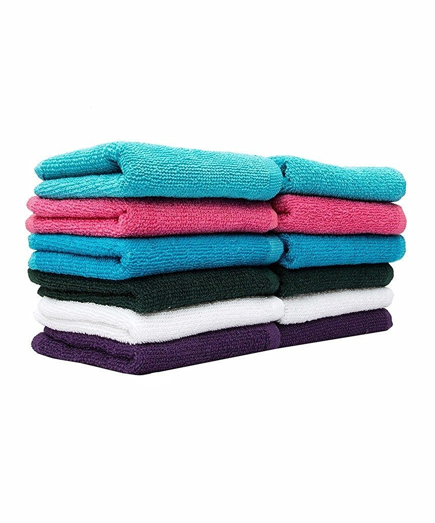 Casa Copenhagen Basics 10 Pack Face/Wash Cloth Towels in Assorted Five Colours Acme CCB03003010002