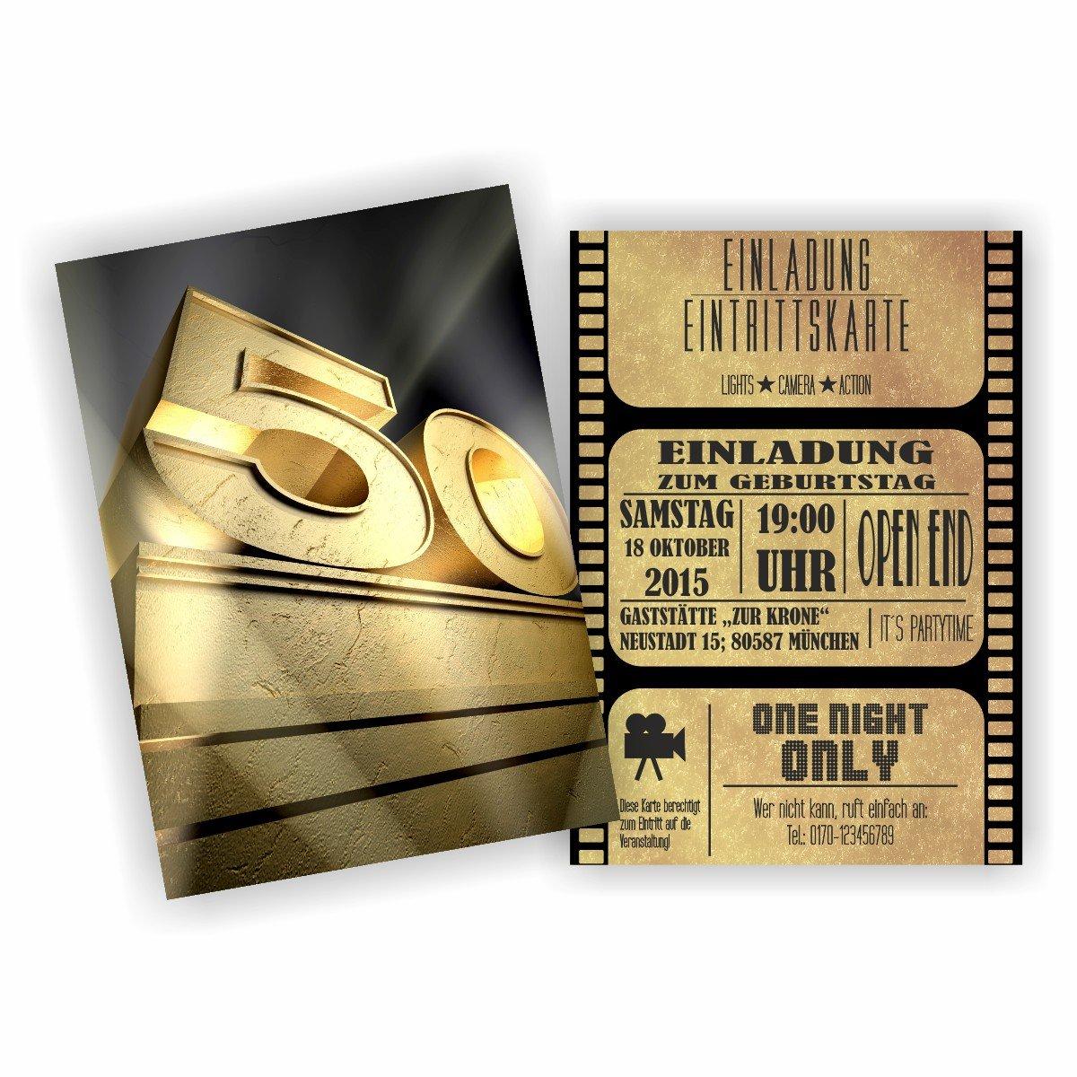 Einladung BLOCKBUSTER I I I KINO FILM THEATER zum 50. Geburtstag (40 Stück) B076M39DKR | Günstige Preise  | Spielzeugwelt, spielen Sie Ihre eigene Welt  | Maßstab ist der Grundstein, Qualität ist Säulenbalken, Preis ist Leiter  48029a