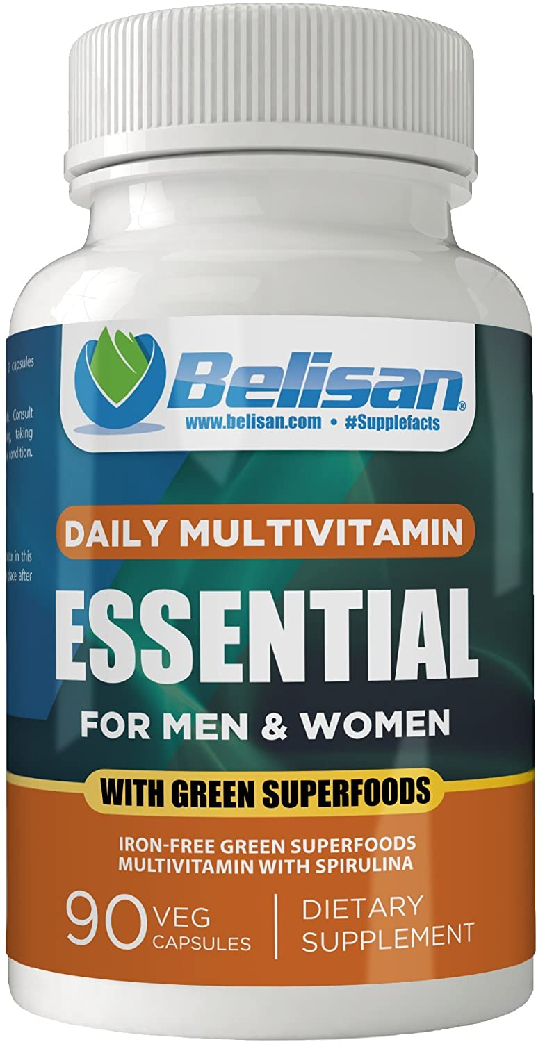 Belisan Daily Multivitamin Essential for Men and Women with Green Superfoods