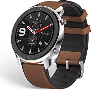 Amazfit GTR Smartwatch, 1.39'' AMOLDED Display 24/7 Heart Rate Monitor, 24 Day Batter Life, 12 Sports Modes(47mm, GPS, Bluetooth), Stainless Steel