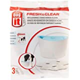 Dogit Fresh & Clear Drinking Water Fountain, Elevated Dog Water Dispenser, Replacement Filters, 3 Pack