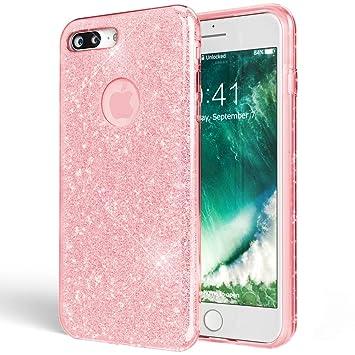 NALIA Purpurina Funda Compatible con iPhone 7 Plus, Carcasa Protectora Movil Silicona Ultra-Fina Glitter Gel Bumper Estuche, Lentejuela Cubierta ...