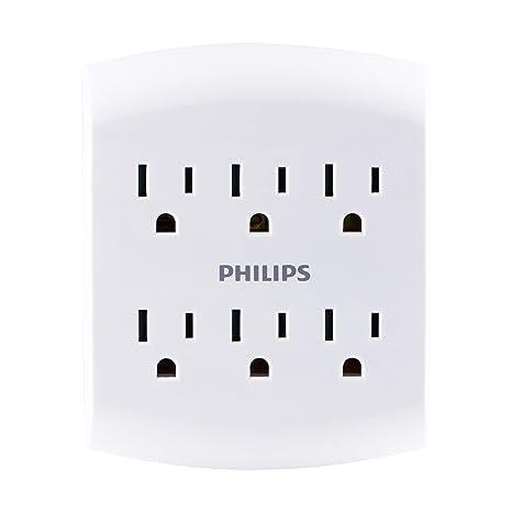 Amazon.com: Philips Multi Outlet Cargador de pared, 6 salida ...