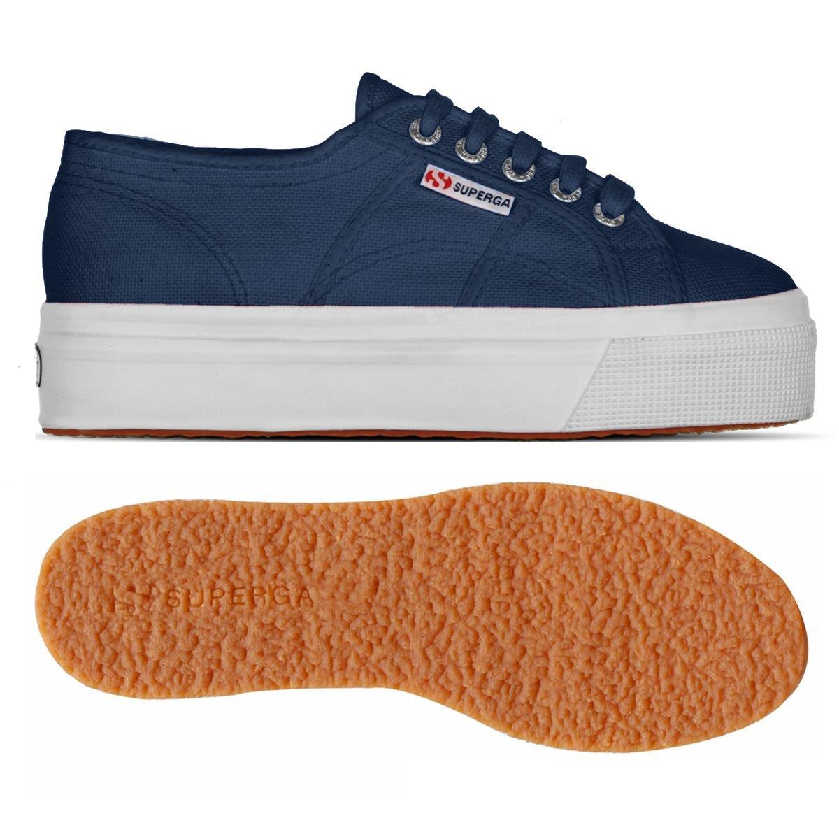 Superga Damen Acotw Linea Up and Down Sneaker Blau Md Cobalt