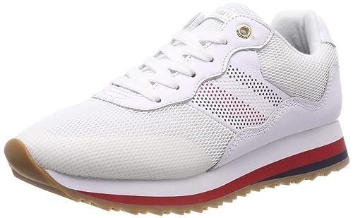 Tommy Hilfiger Tommy Corporate Retro Sneaker, Zapatillas para Mujer: Amazon.es: Zapatos y complementos