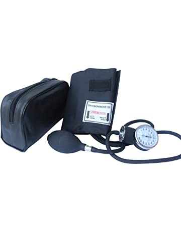 Santamedical Adult Deluxe Aneroid Sphygmomanometer - Professional Blood Pressure Monitor with Adult Black Cuff and Carrying
