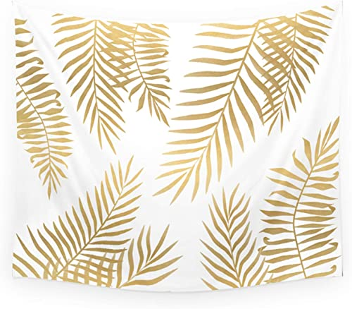 Society6 Wall Hanging Tapestry – Medium 68 x 80 – Gold Palm Leaves by Marta Olga Klara