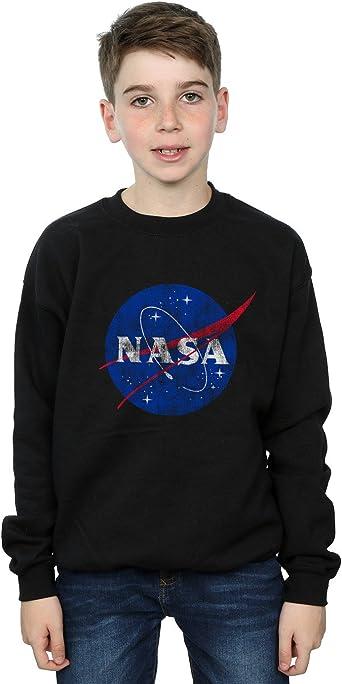 Absolute Cult NASA Niños Classic Insignia Logo Distressed Camisa De Entrenamiento Negro 12-13 Years: Amazon.es: Ropa y accesorios
