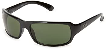 ec3519ba18 Ray-Ban RB4075 - BLACK Frame CRYSTAL GREEN POLARIZED Lenses 61mm Polarized