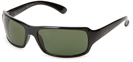 a7ac896d13 Amazon.com  Ray-Ban RB4075 - BLACK Frame CRYSTAL GREEN POLARIZED Lenses  61mm Polarized  Clothing