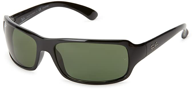 3f77a8f8331 Ray-Ban Sunglasses - RB4075   Frame  Glossy Black Lens  Crystal Green  Polarized
