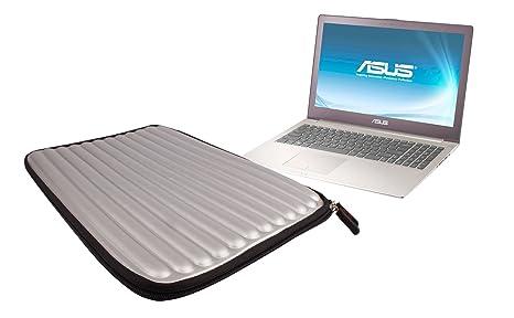 DURAGADGET Funda De Espuma Con Memoria Color Gris Plateado Para El Ordenador Portátil Asus Zenbook U500VZ