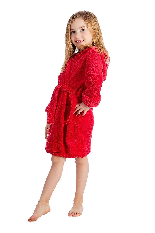 elowel Boys Girls Hooded Childrens Sleep Robe (Size 2 Toddler -14Y)