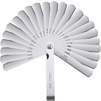 32 Blades Imperial Metric Combination Feeler Gauge Metalworking Measuring Gage