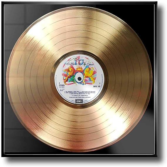Queen – A Night at the Opera Color Marco con disco de oro Memorial: Amazon.es: Hogar