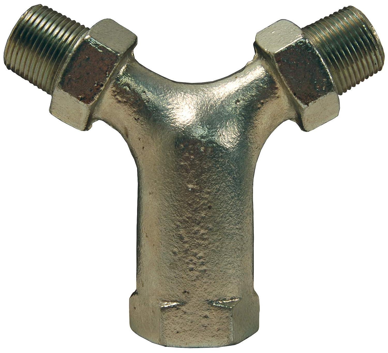 Dixon Y10075 - Soporte de hierro para aire acondicionado, compresor en Y, entrada hembra NPT de 2,54 cm, 2 salidas macho NPT de 3/4