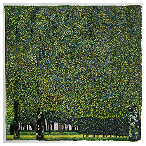 The Park - Gustav Klimt hand-painted oil painting reproduction,vivid color lush foliage on trees,living room dense pattern large wall ()