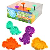 R & M International Dinosaur Cookie, Set of 4 Stamper, one size, Assorted Colors