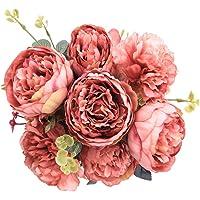 StarLifey Künstliche Rosen Jahrgang Blumen Vintage Pfingstrosen Blumen-Bouquet Hochzeitsdekoration Kunstblumen Deko