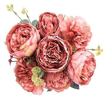 Amazon De Starlifey Pfingstrose Hochzeit Blume Vintage Pfingstrose