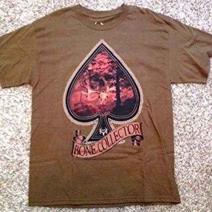 90aae0b1618ba Image Unavailable. Image not available for. Color: Bone Collector Ace of  Spades Deer Hunting Brown Men's ...