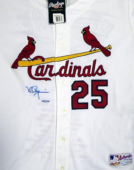half off a403d 4278d St. Louis Cardinals Mark McGwire Autographed White Majestic ...