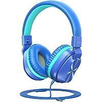 PeohZarr Kids Headphones with Mic, 85dB/94dB Safe Volume Limited On-Ear Headphones for Kids Girls Boys, 3.5mm Jack…
