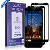 TOBOS (2-Pack) Google Pixel 3a Tempered-Glass Screen Protector, Bubble Free, Fingerprint, Scratch, and Force-Resistant,Case-Friendly Screen Protector for The Google Pixel 3a (Black)