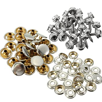 75pcs 25 Sets 15mm Snap Fastener Button Screw Studs Kit For Boat Cover Tent Kit