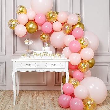 Rose lien ballon arch floor décoration-hélium ou air rempli mariage//anniversaire